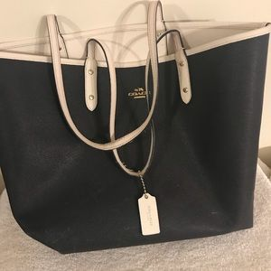 Coach Reversible City Tote in Coated Canvas
